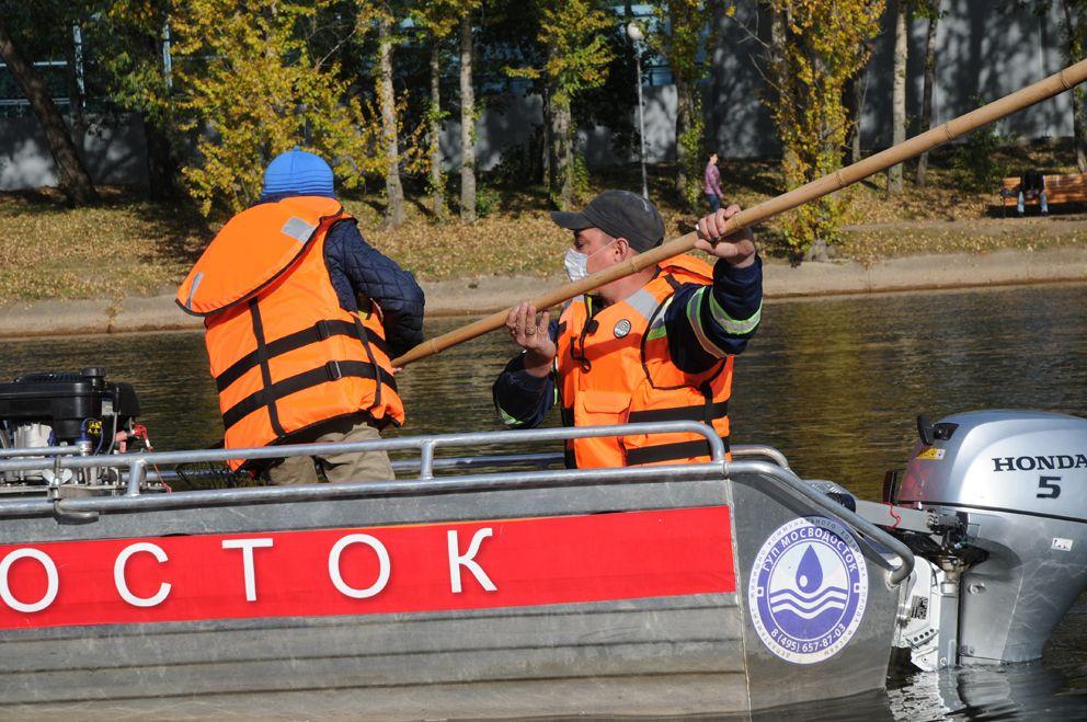 Мазиловский пруд, ГУП Мосводосток, очистка пруда