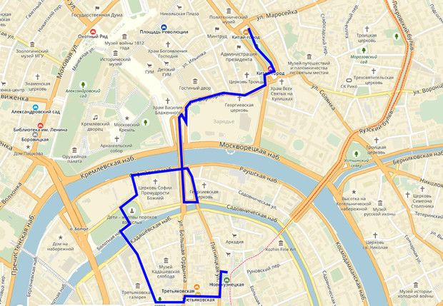 Экспресс-прогулка от Китай-города до Пятницкой