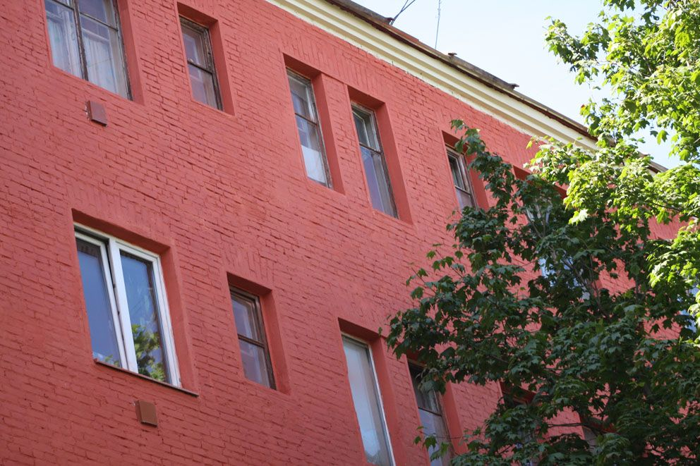 Фасад домов бывшего Буденовского поселка