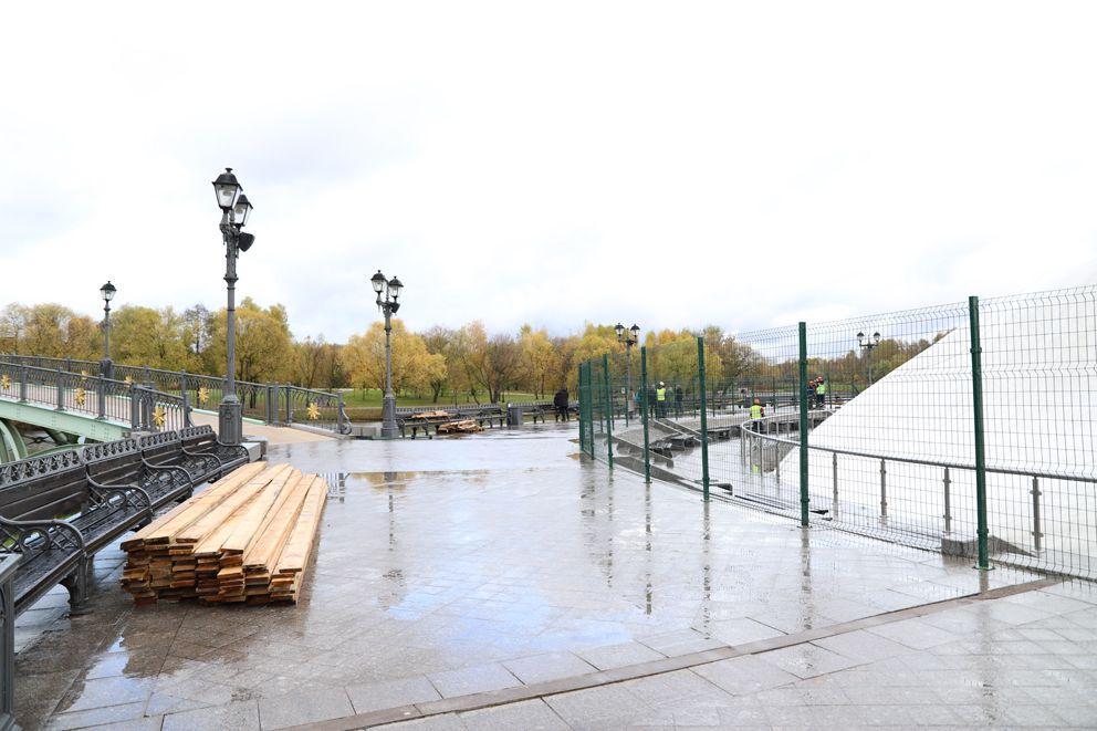 фонтан, Царицыно, зима