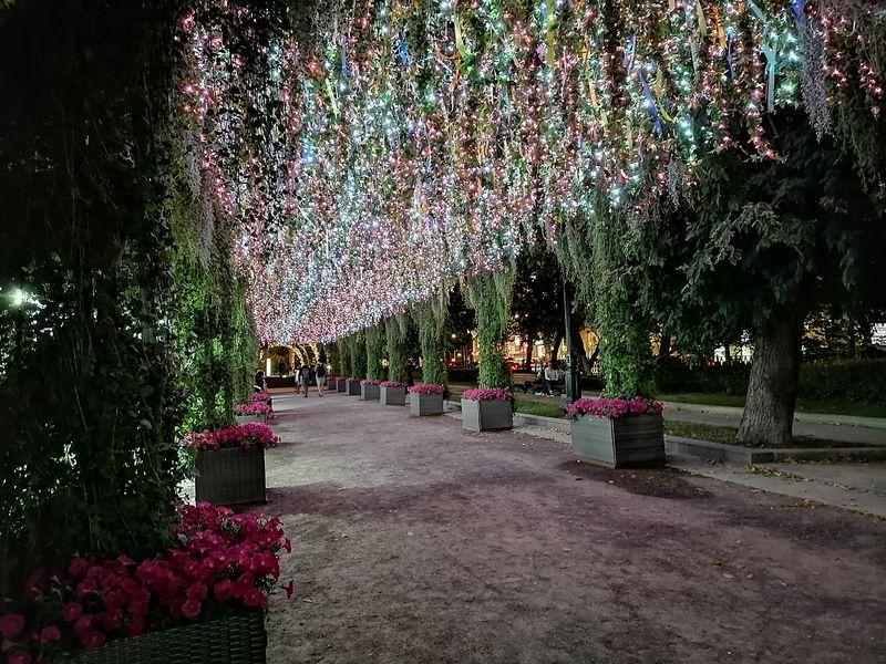 арка, Тверской бульвар, подсветка