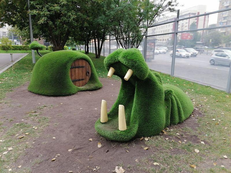 Новослободский парк, бегемот