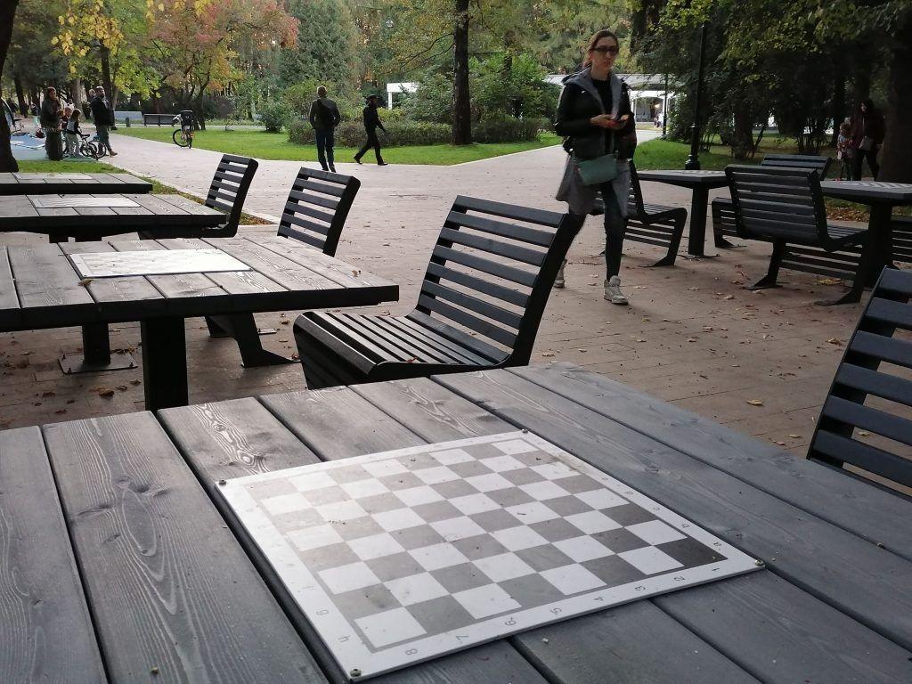 парк Северного речного вокзала, шахматный стол