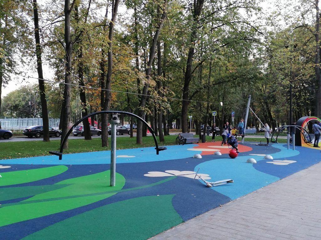 парк Северного речного вокзала, спортивная площадка