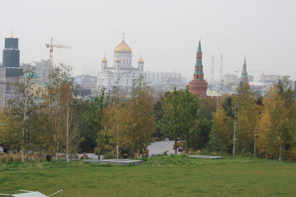 парк Зарядье, осень в Москве