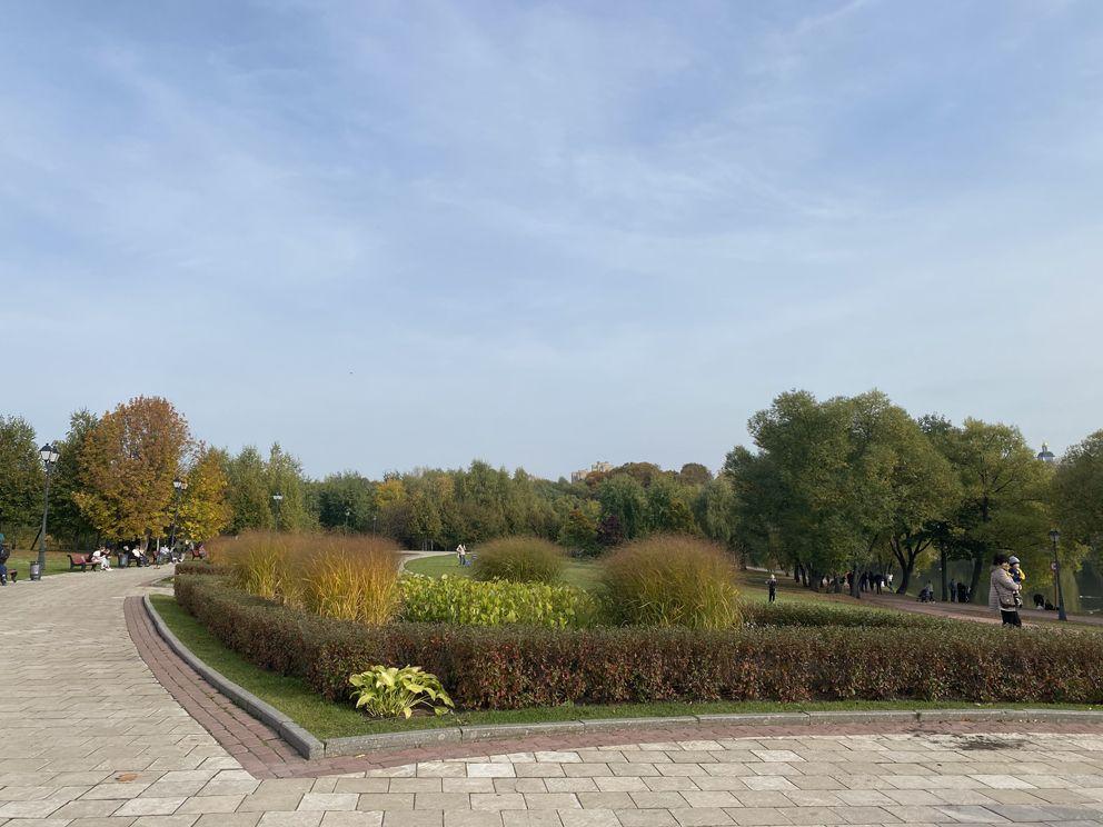 Прекрасный пейзаж в Царицынском парке