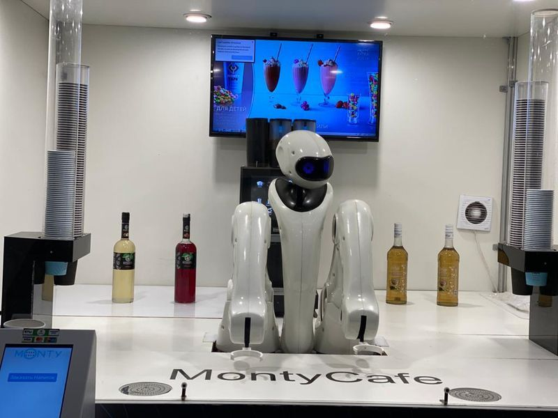 робот-бариста, кофе, бар, кафе