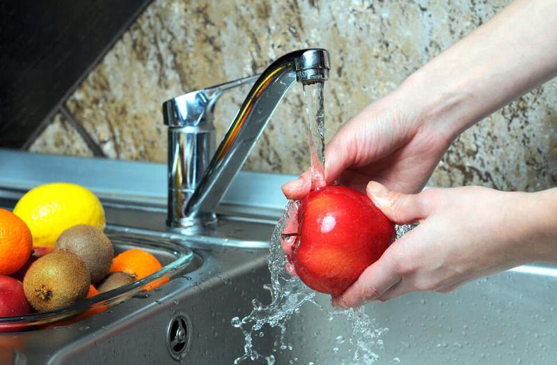 овощи, фрукты, моют, вода, кишечные инфекции, пандемия