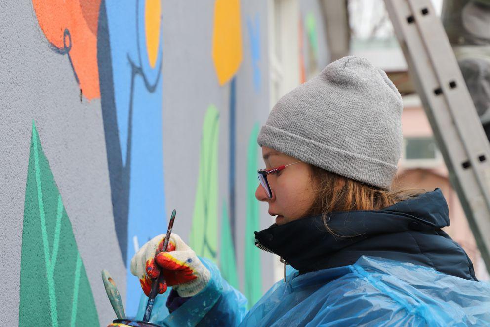 Экошкола Кусково, граффити