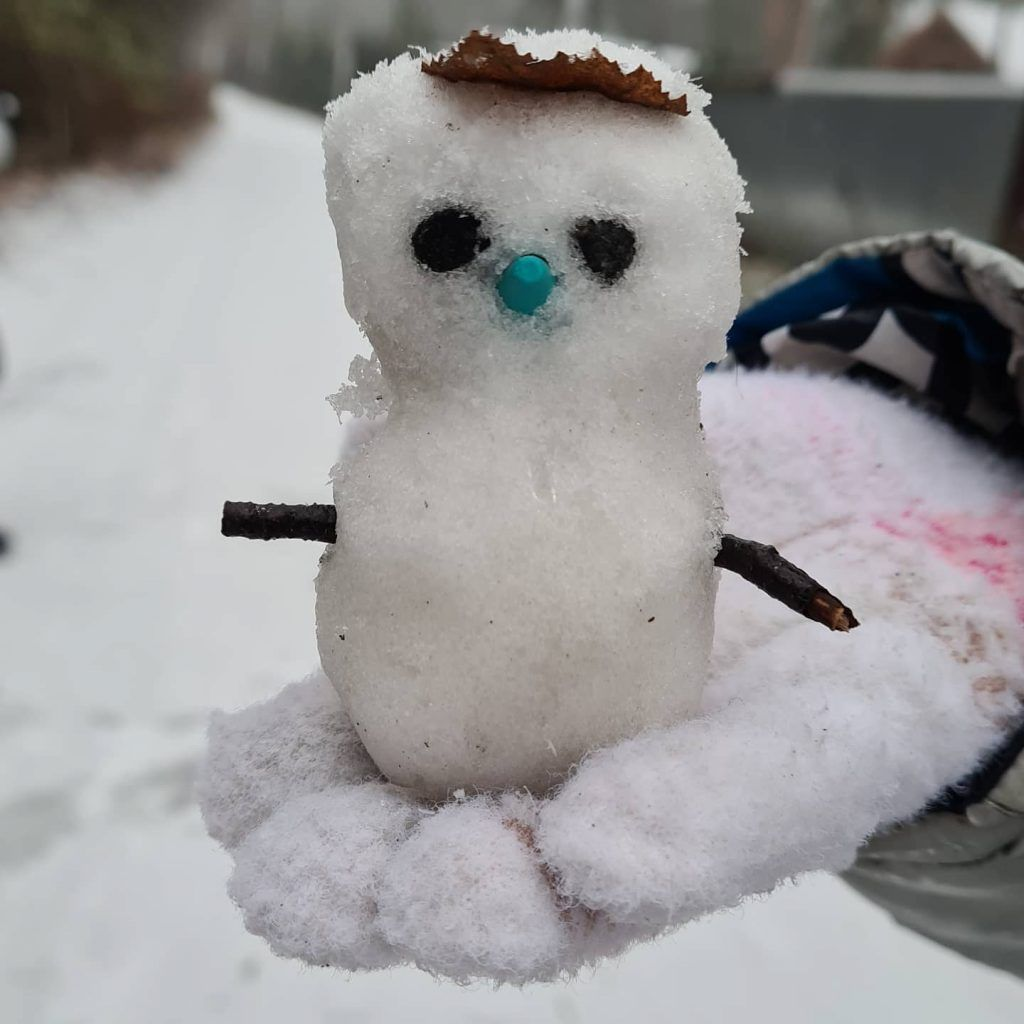 снеговик, снег, зима в Москве