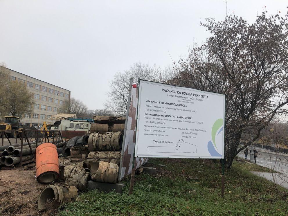 очистка реки, Яуза, ГУп Мосводосток