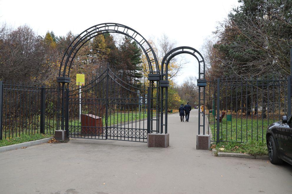 Вход в лесопарк Кусково со стороны жд станции