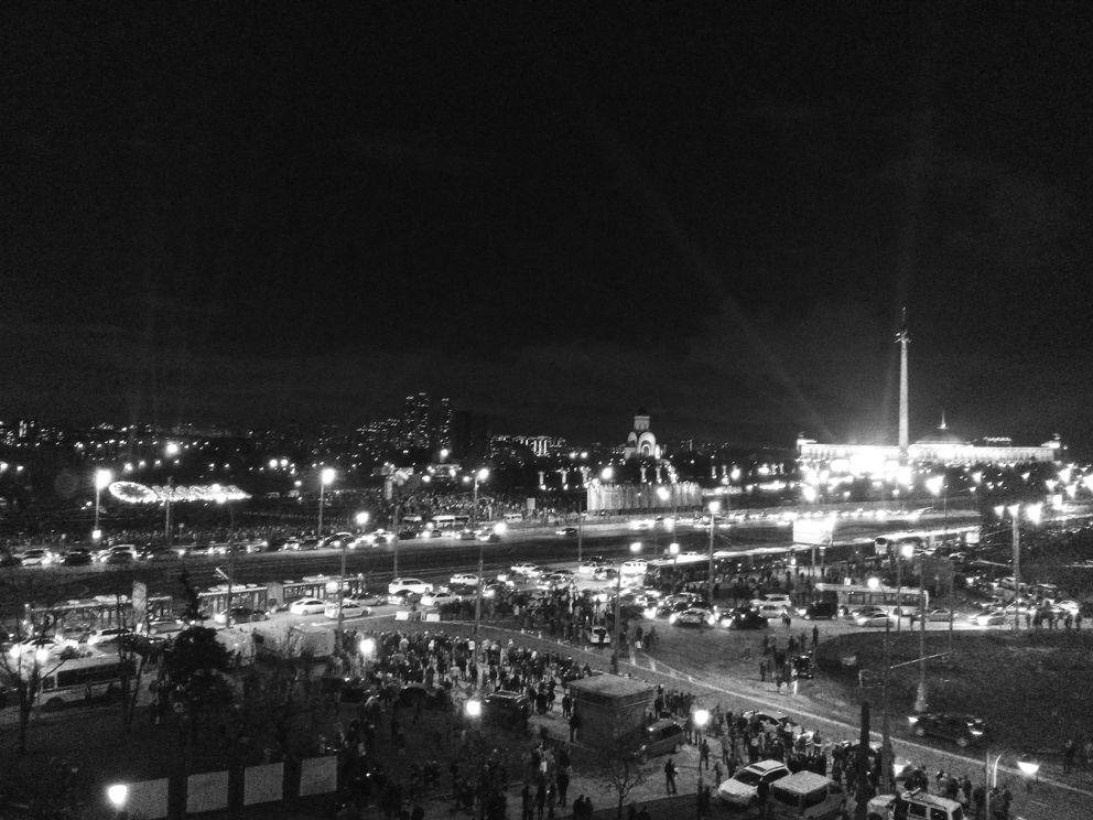 Вид на Поклонную гору и Парк Победы