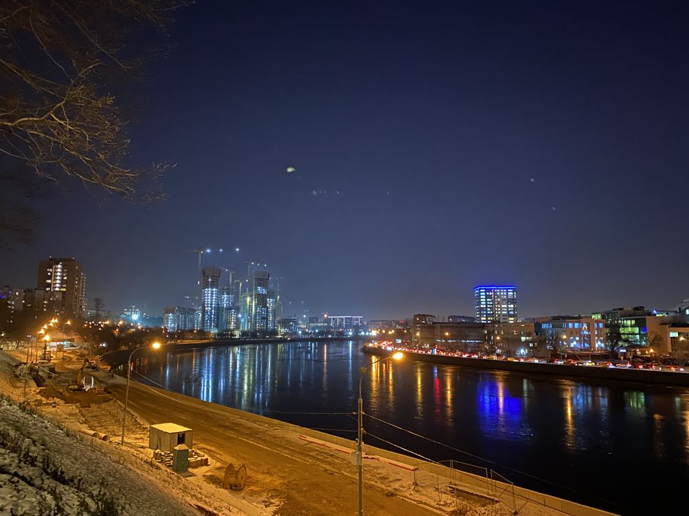 набережная, украшение Москвы, новый год