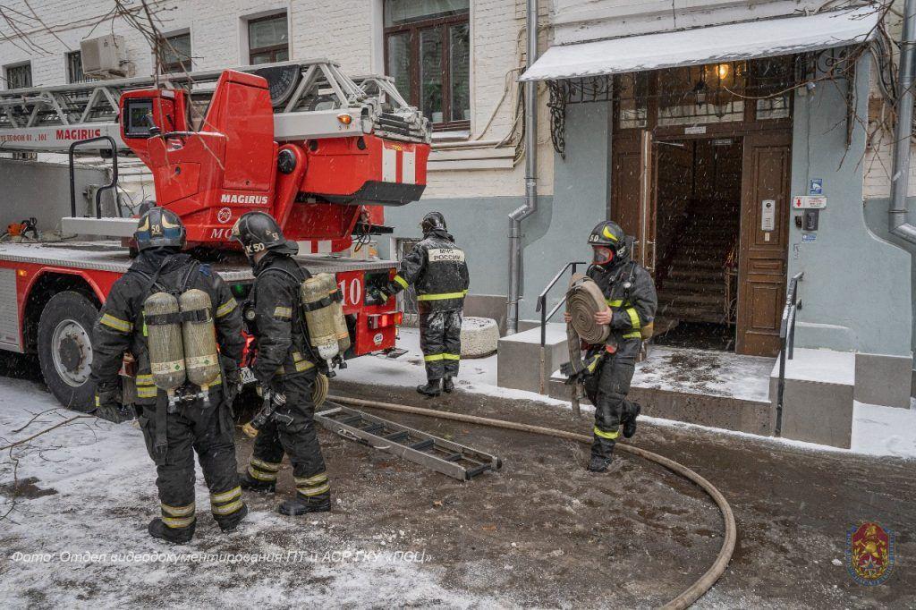 пожар, происшествия в Москве