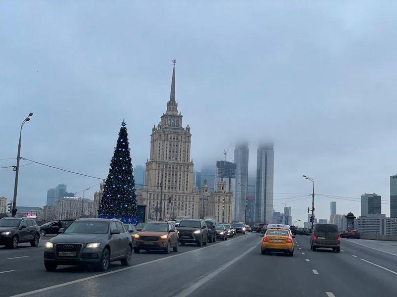 Москва, зима, снег, гололедица