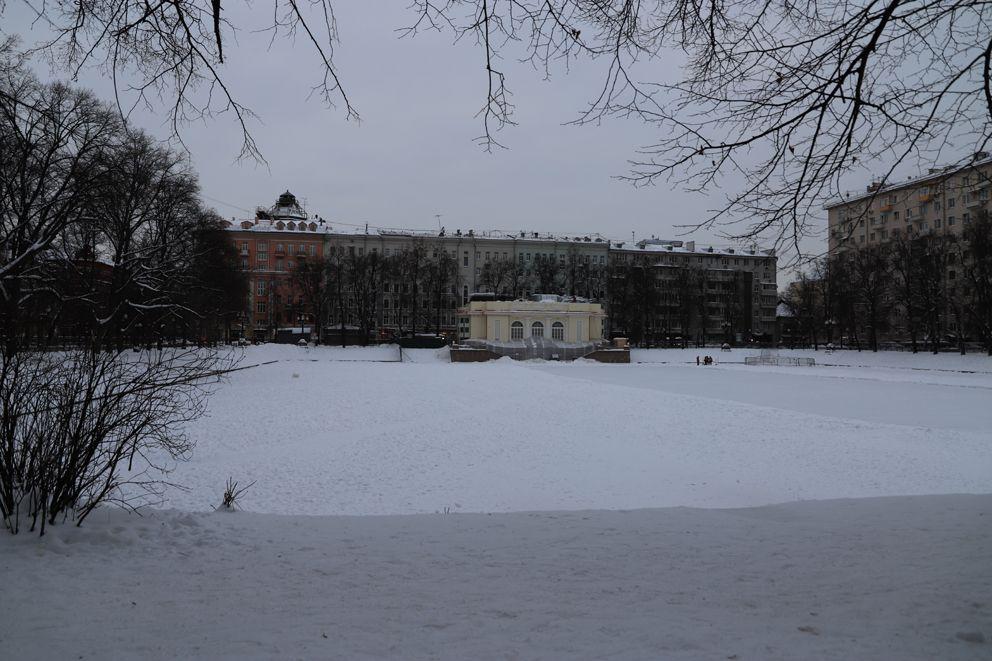 Патриаршие пруды, зима в Москве, аэрация