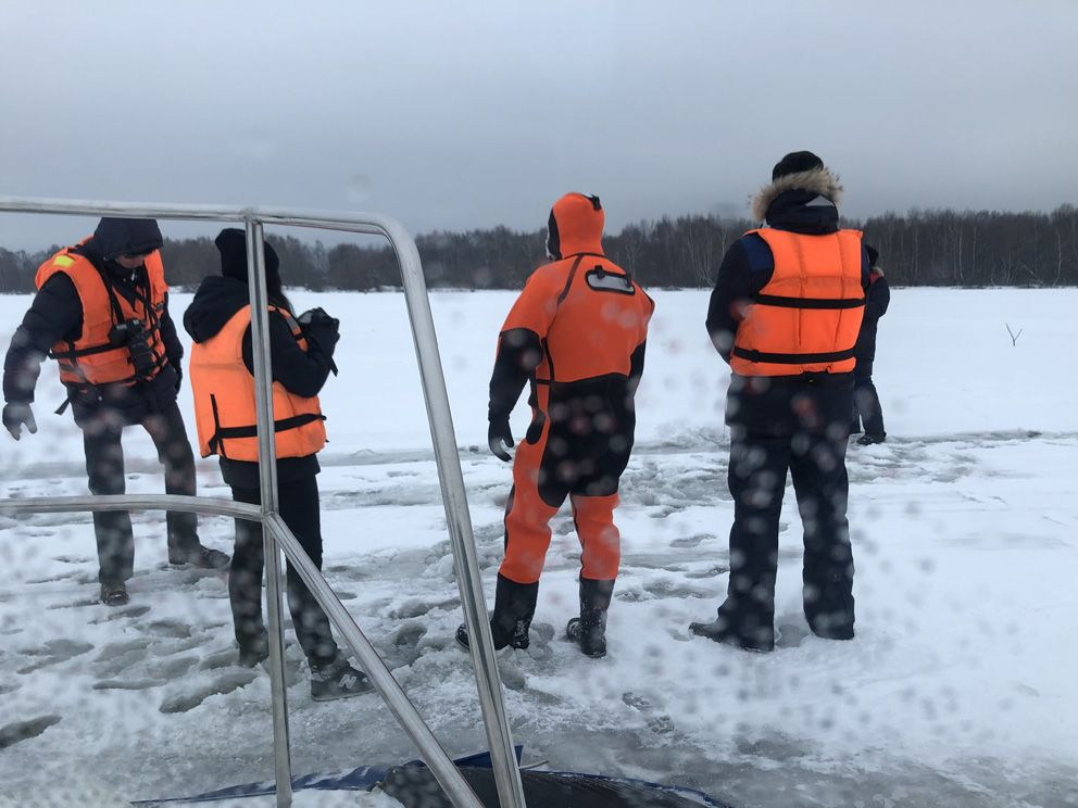 спасатели, зима в Москве