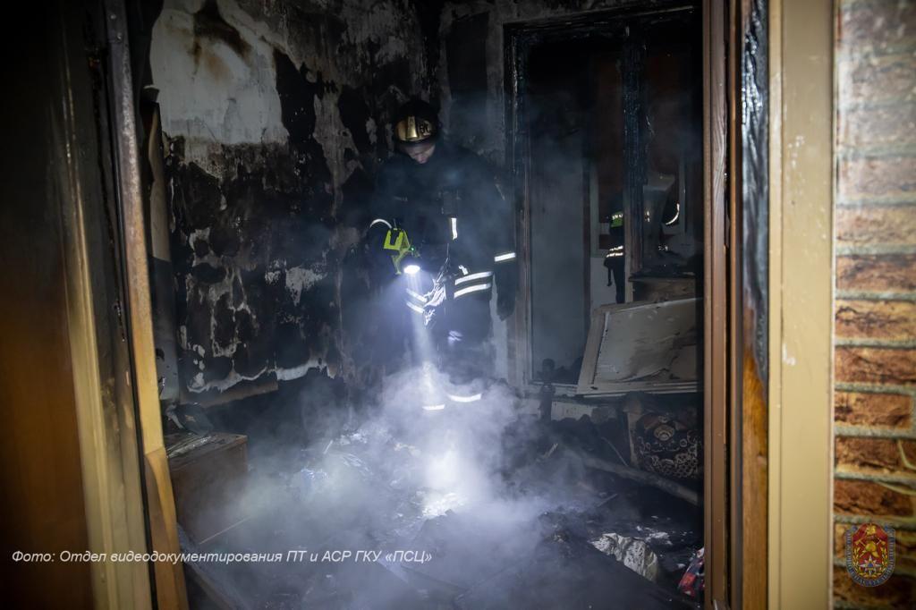 пожар, происшествия в Москве, Ховрино, пожарные