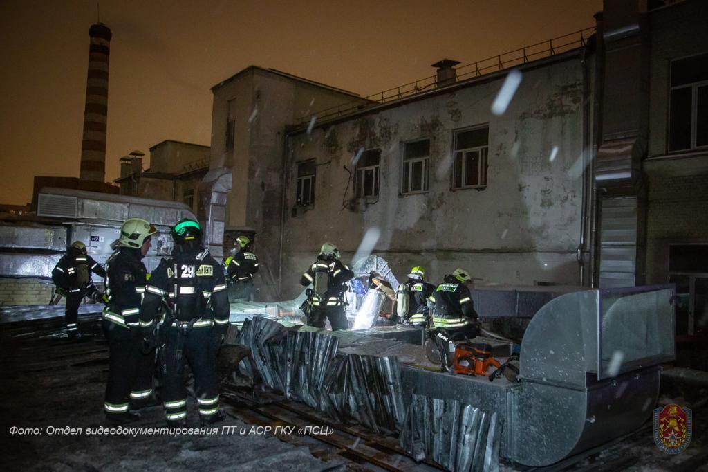 пожар, ЦАО, происшествия в Москве