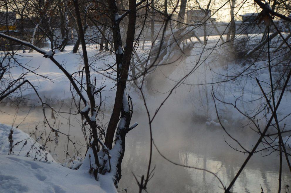 Пар над речкой Лихоборкой