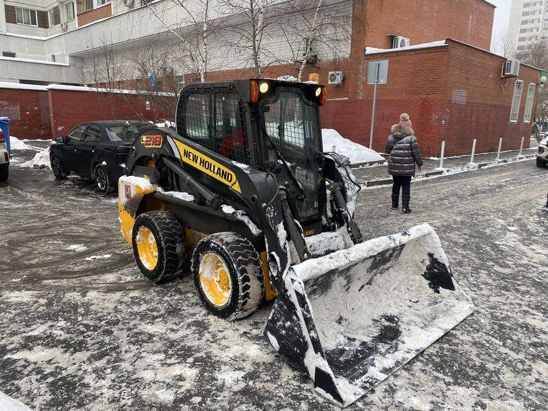 уборка снега, зима в Москве, комплекс городского хозяйства
