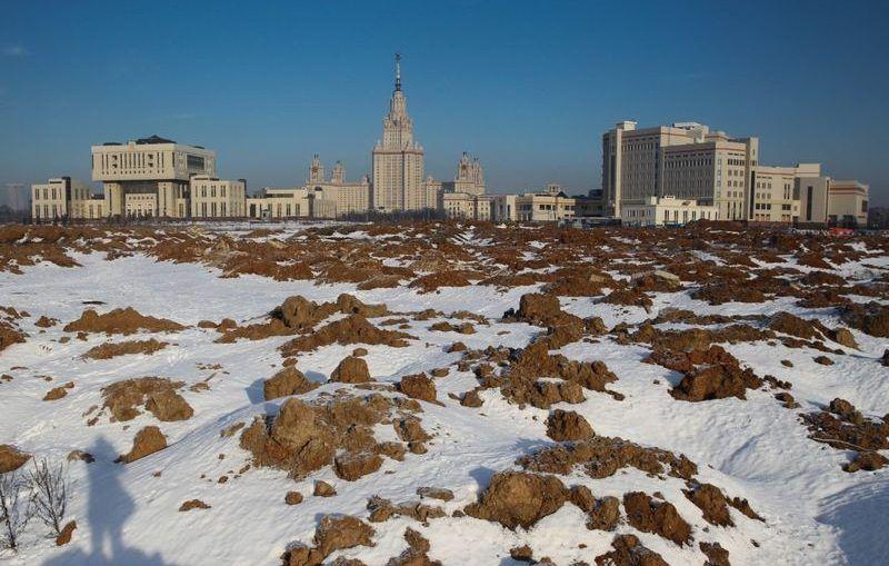 МГУ, зима