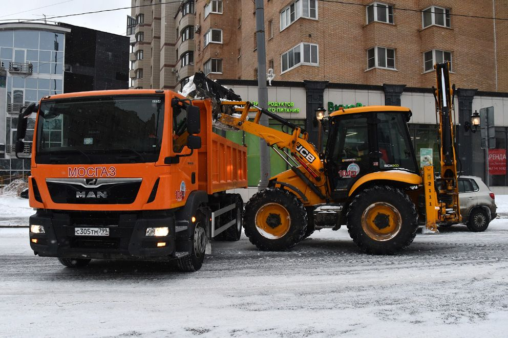 уборка снега, зима, АО Мосгаз