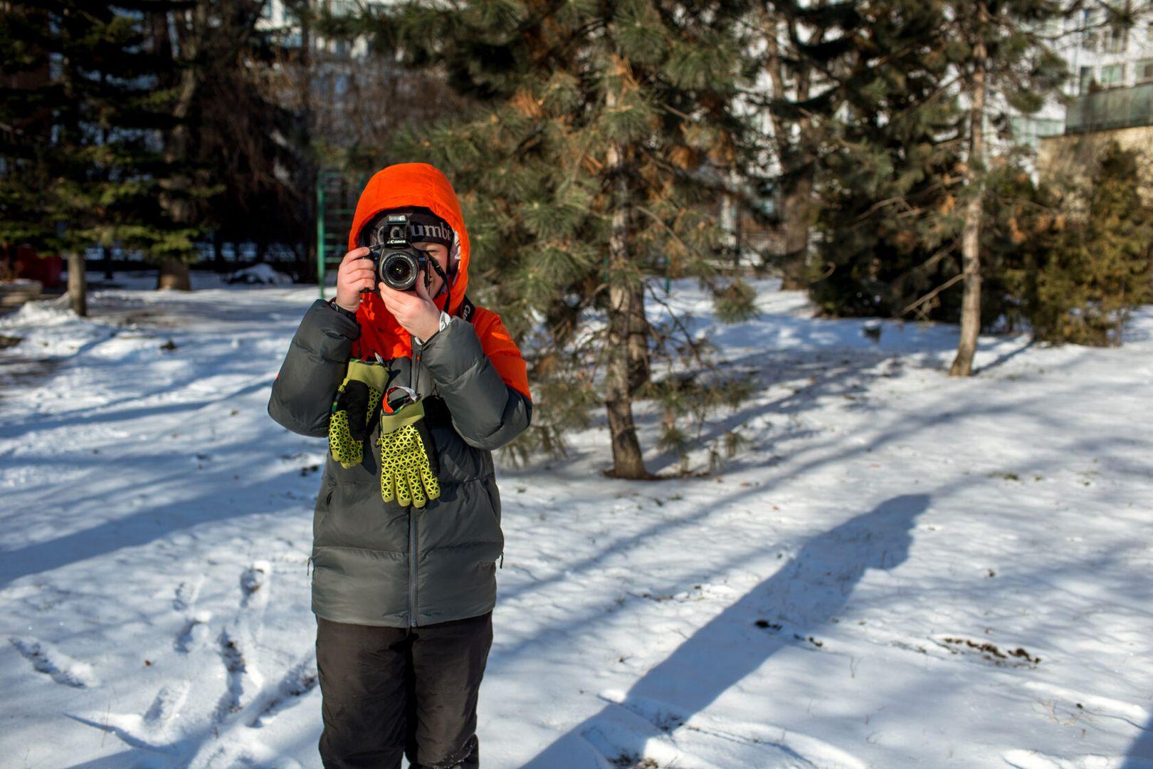 Экотропа, зима, лес, снег