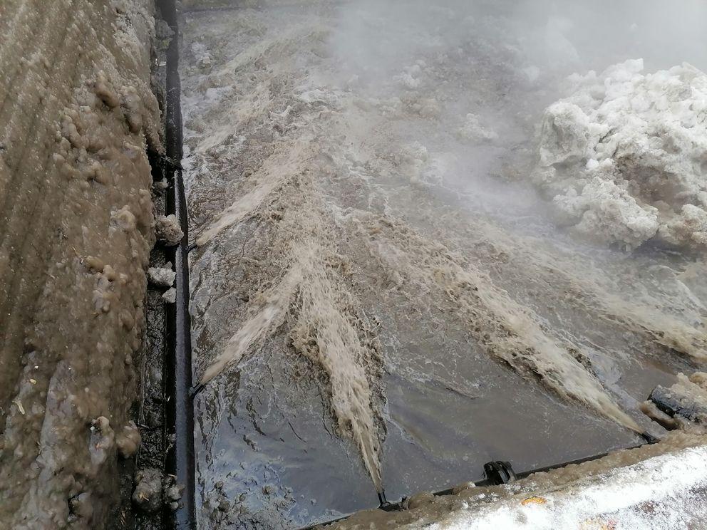 снегосплавные пункты, снег, зима в Москве