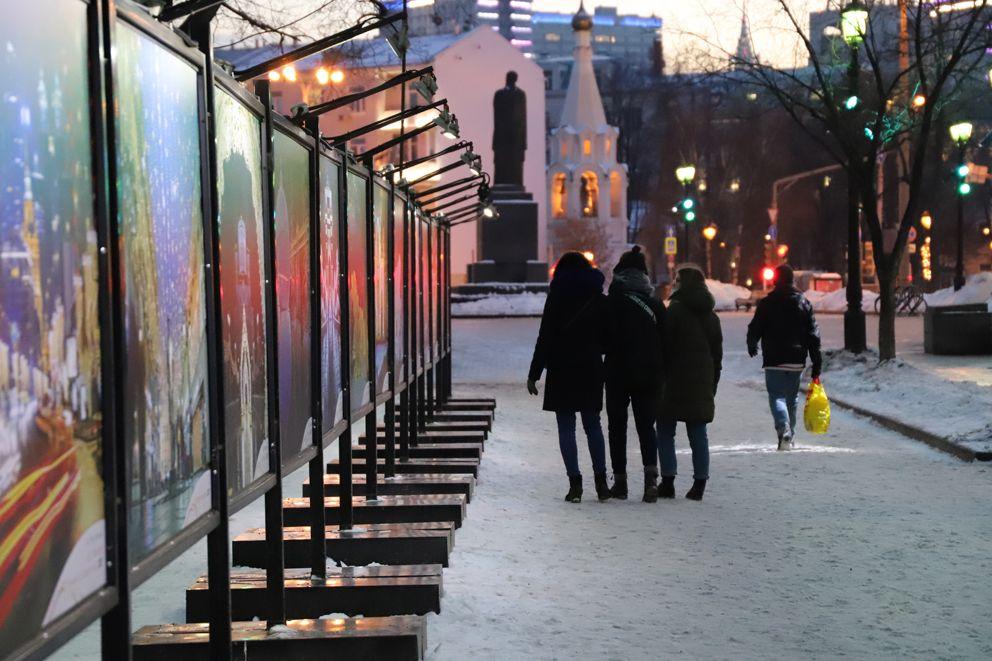 фотовыставка, украшение Москвы, новый год