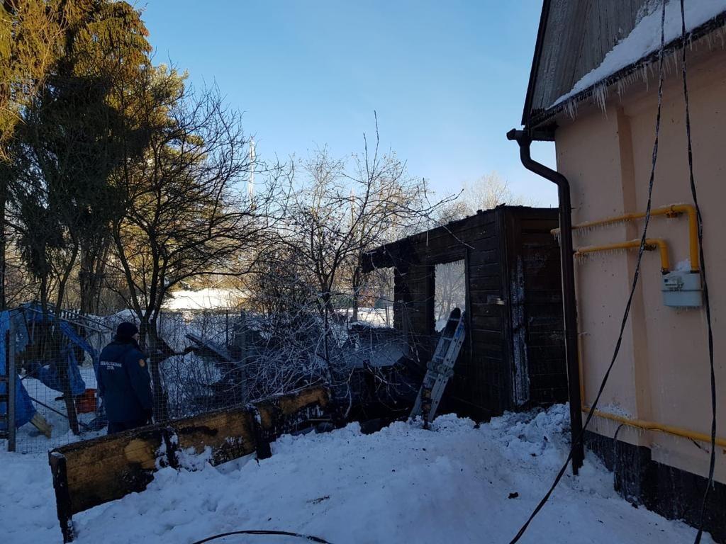 пожар, поселок Внуково