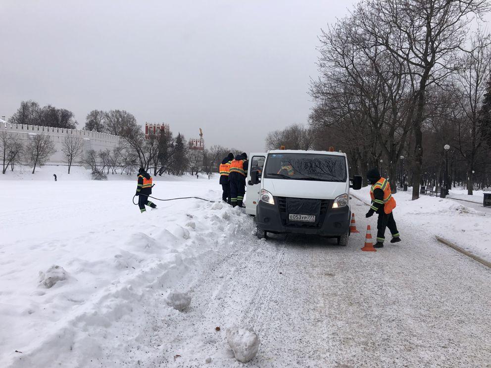 водоем, зима, ГУП Мосводосток, аэрация
