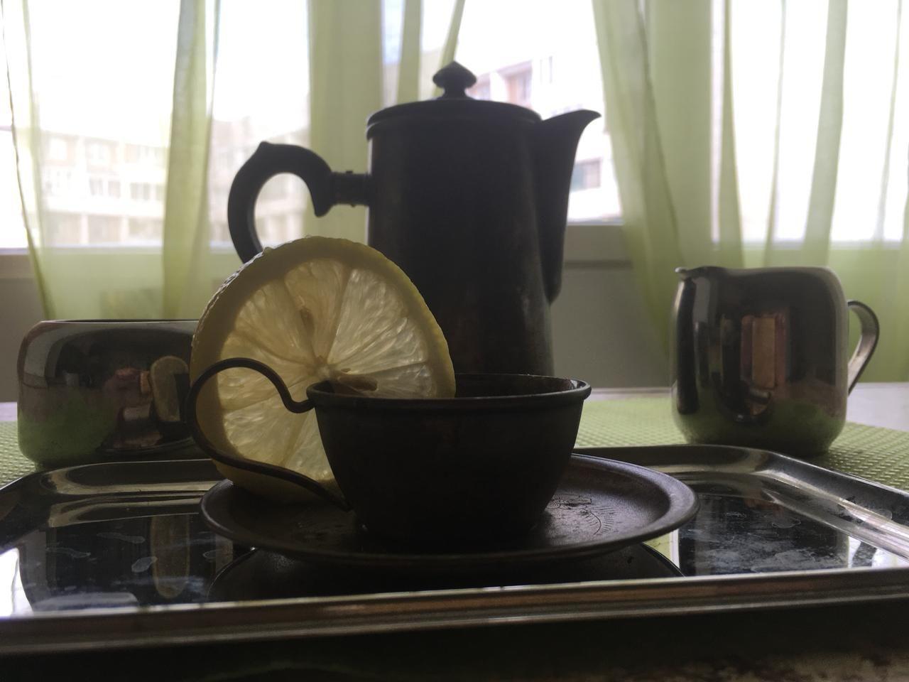 кофе, лимон