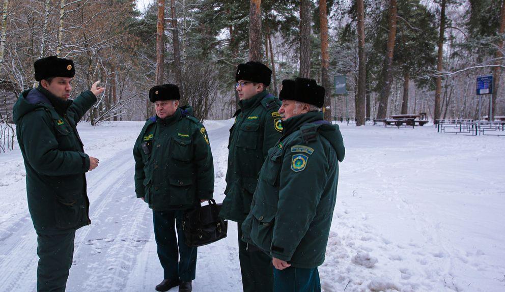 мосприрода, служба охраны, зима