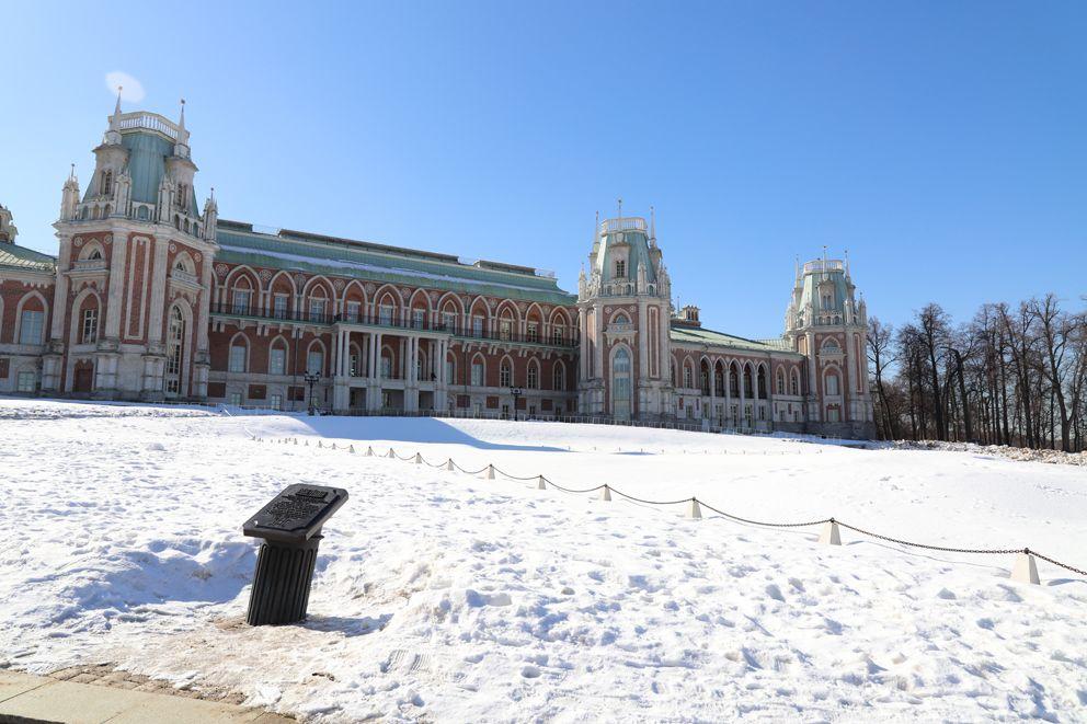 Большой дворец, Царицыно, снег