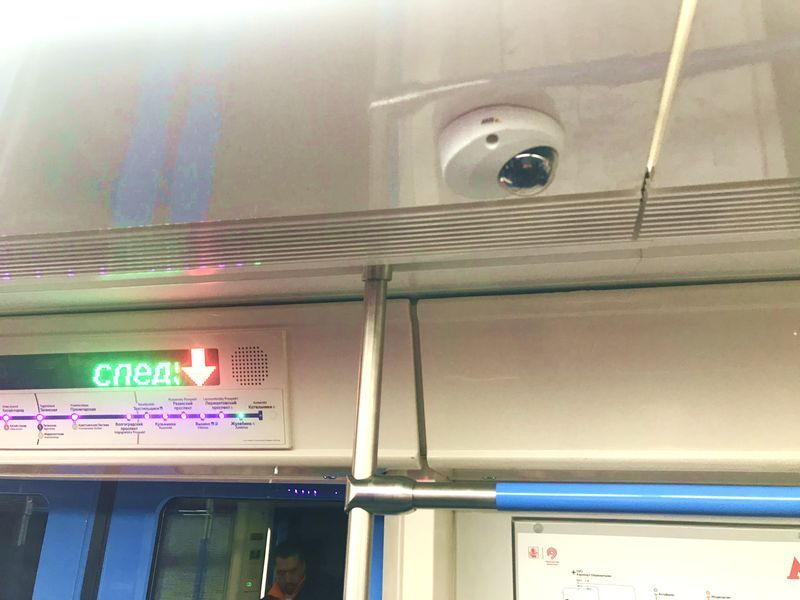 видеокамеры, метро