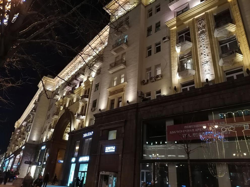 подсветка, Тверская улица