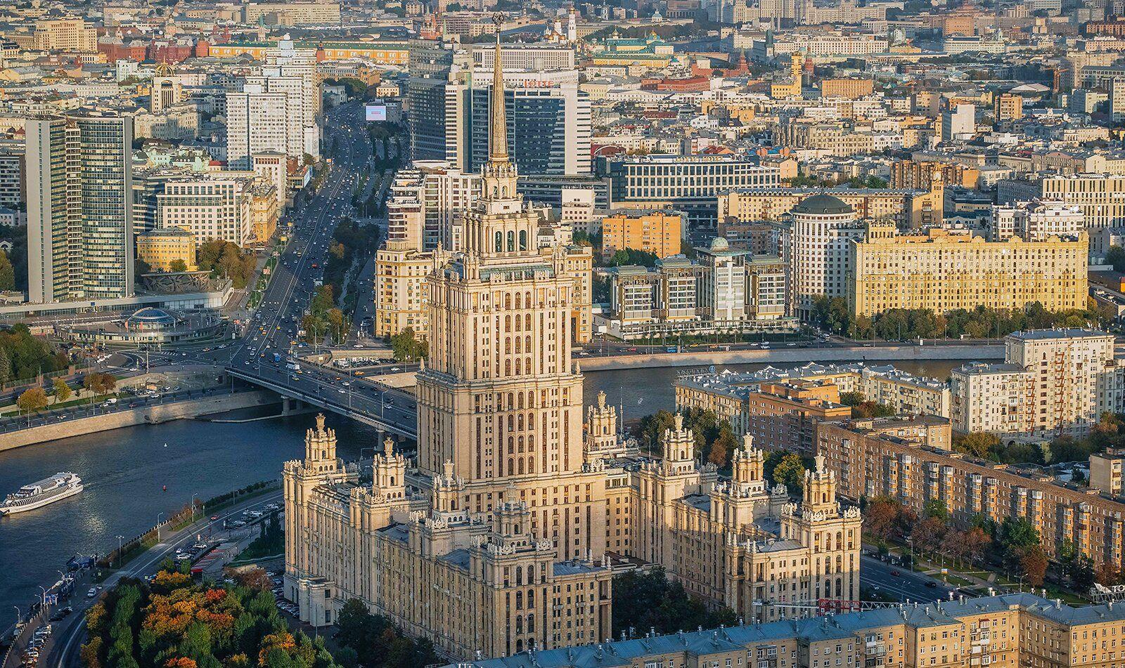 Крыша гостиницы Украина