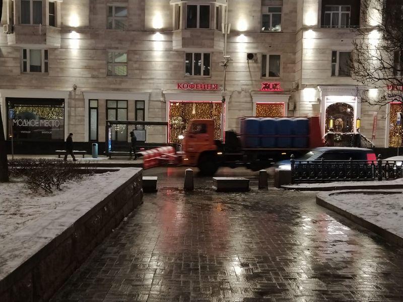 зима, трактор, машины, улица