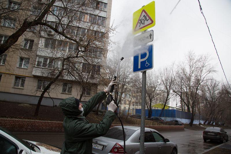 Промывка улиц, Жилищник, промывка дорожных знаков