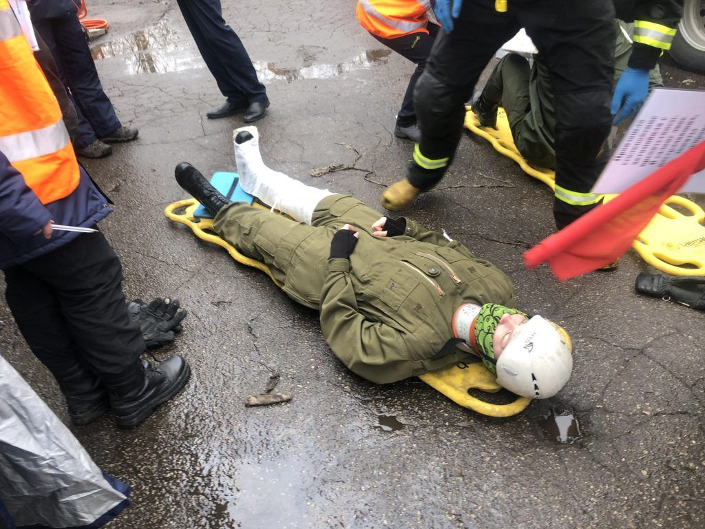 пострадавший, Спасатели, соревнования, Департамент гражданской обороны