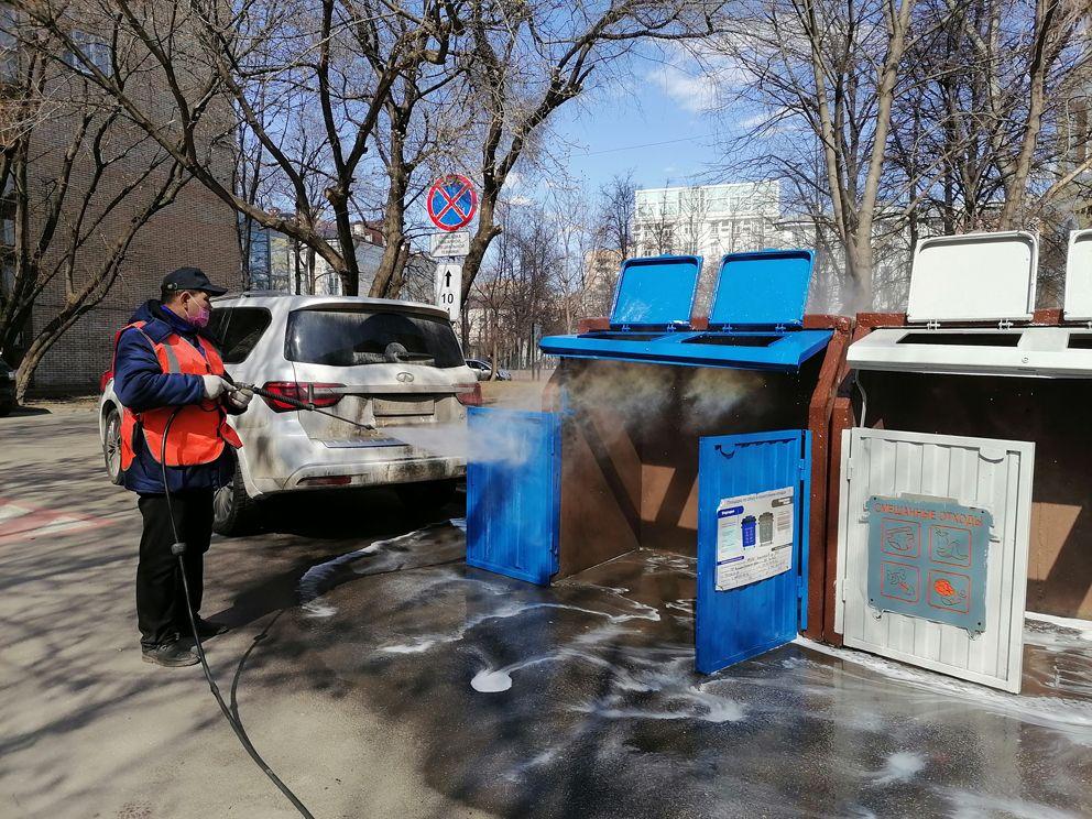 двор, мусор, промывка