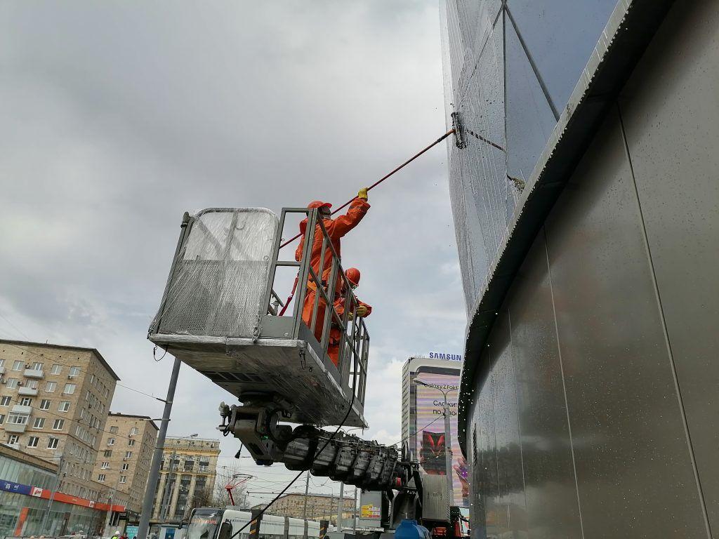 промывка здания, ГБУ Гормост