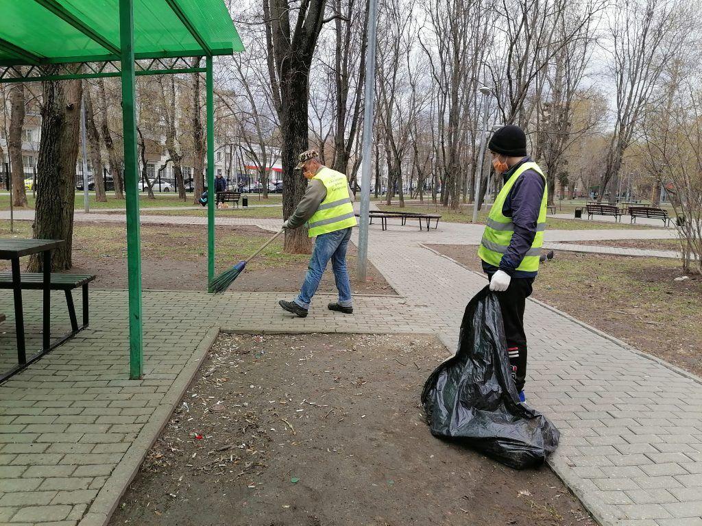 покраска, уборка территории весна в Москве