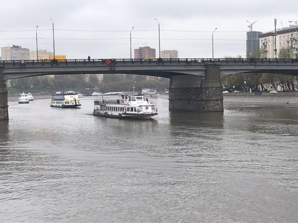 навигация, весна в Москве, Москва-река