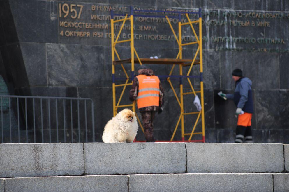 Аллея Космонавтов, ВДНХ, промывка, Автомобильные дороги, промывка, веснам в Москве, благоустройство