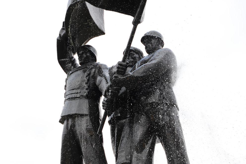 промывка, памятник Победители, Вешняки, ВАО, благоустройство