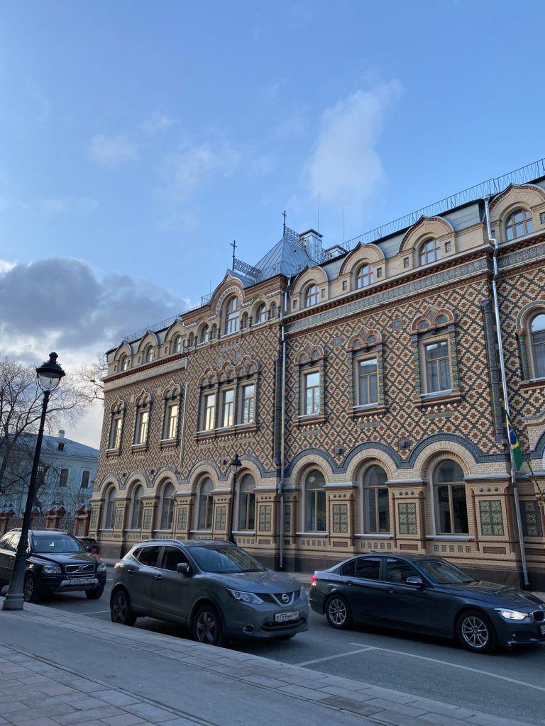 благоустройство, здание посольства