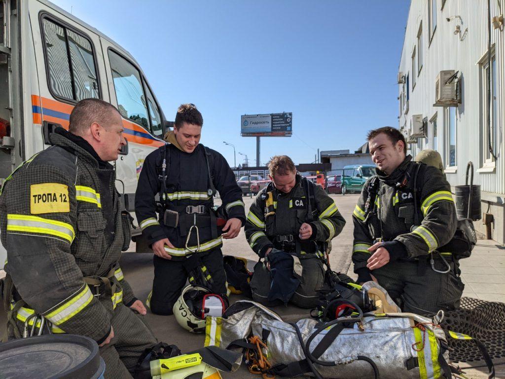 спасатели, тренировка, МАЦ
